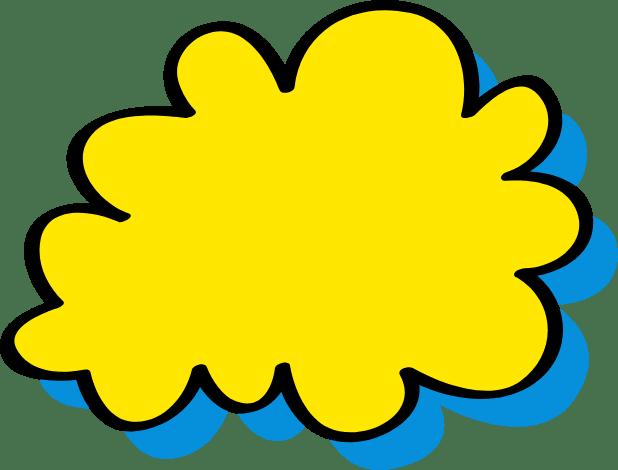 Logo nuage jaune